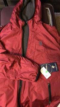 Red and black zip-up jacket New Brighton, 55112