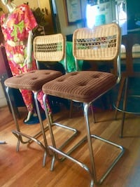 Two brown wooden bar stools Los Angeles, 90026