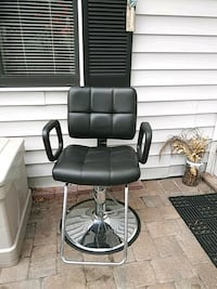 black leather padded rolling armchair Fort Myers, 33907