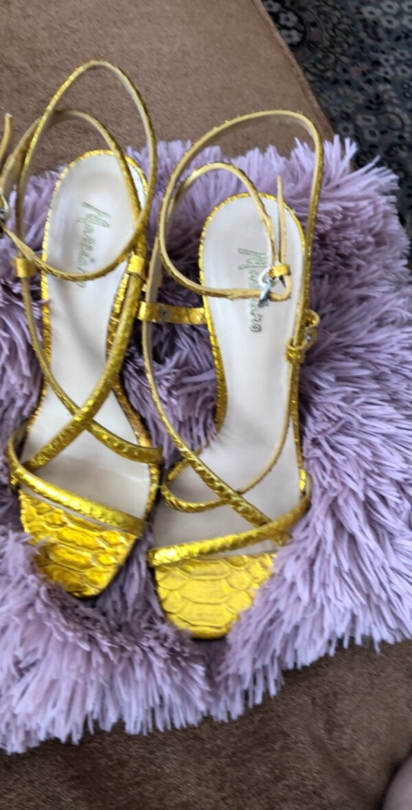 Gold coloured Sandals, size 5.5