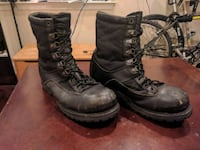 pair of black leather combat boots Rockville, 20855