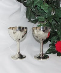 Set of two vintage silverplate wine Goblets Mississauga, L4X 1S2