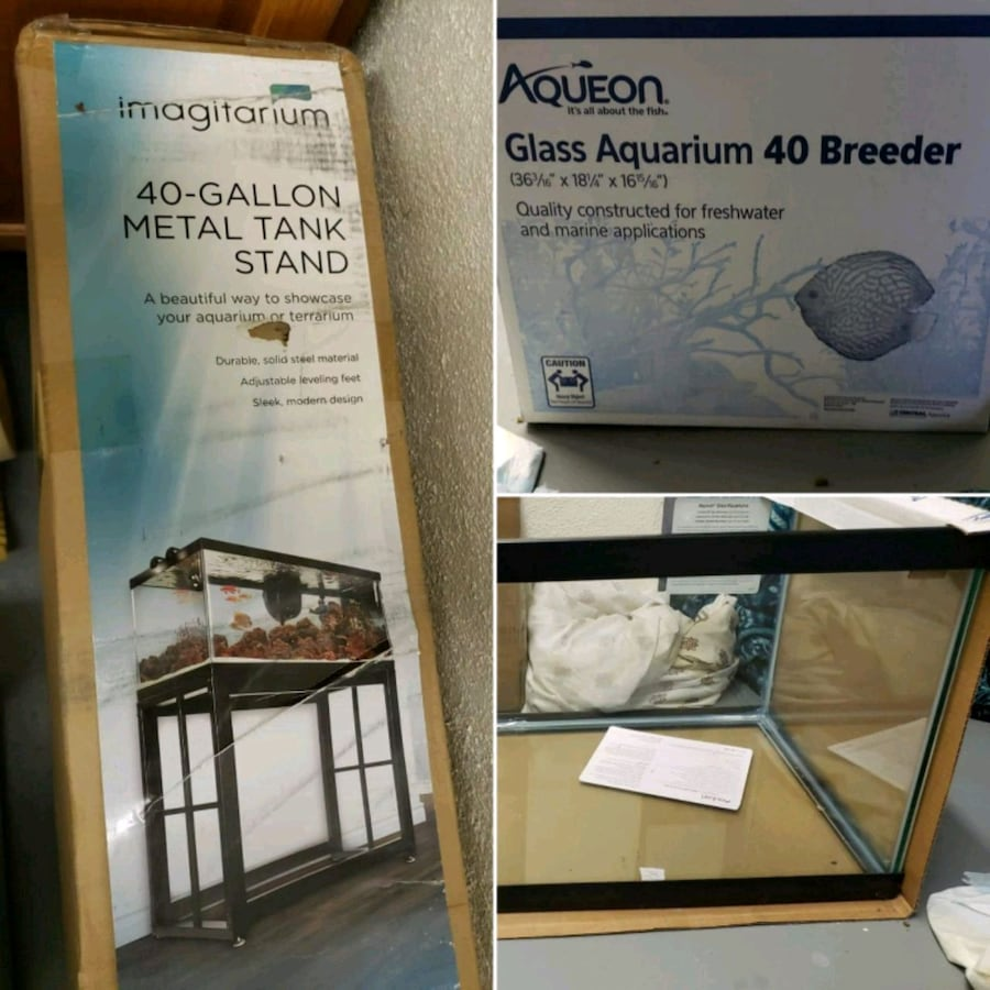 40g tank and metal stand, brand new