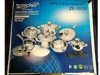 ZEPTER 16 PIECES WIDE EDGE POT, SAPPHIRE ZE-1818, King City, L7B 1L1