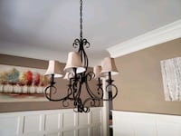 chandelier: incandescent lumiaire 5 lights -  bronze - uplight config  Atlanta, 30345
