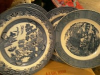 Plate blue willow Candler, 28715