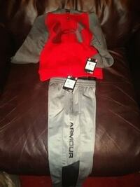 2T under armour hoodie and sweat pants.with tags 303 mi