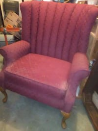 victorian burgundy chair