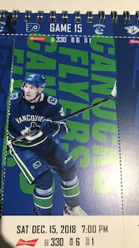 Canucks vs flyers $140for pair great seats alcohol permitted Surrey, V3S 8Z4