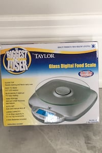 Glass digital food scale