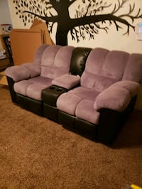 brown and black fabric 3-seat sofa Bakersfield, 93304