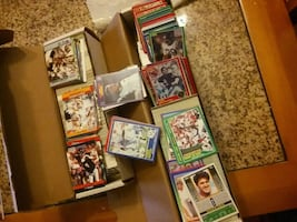 Football trading card collection