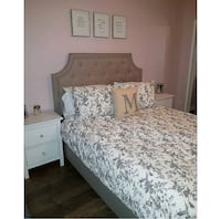 Queen Fabric bed frame  Toronto, M6M 3Z8