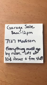 Everything must go by noon today. Come pick up  Davenport