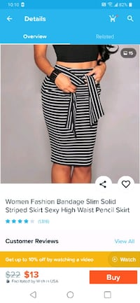 Black/white sexy pencil skirt with bow - M Toronto, M6K 2X1