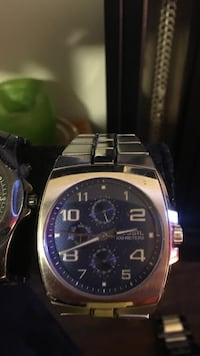 round silver-colored chronograph watch with link bracelet Kelowna, V1X 2P2