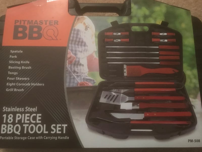 18 piece grill set stainless steel BBQ Brand New 631eb487-dcfa-4b99-bed9-10807ef902d2