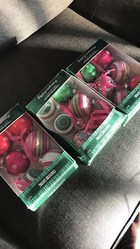 Country living glass christmas ornaments (20 balls total)