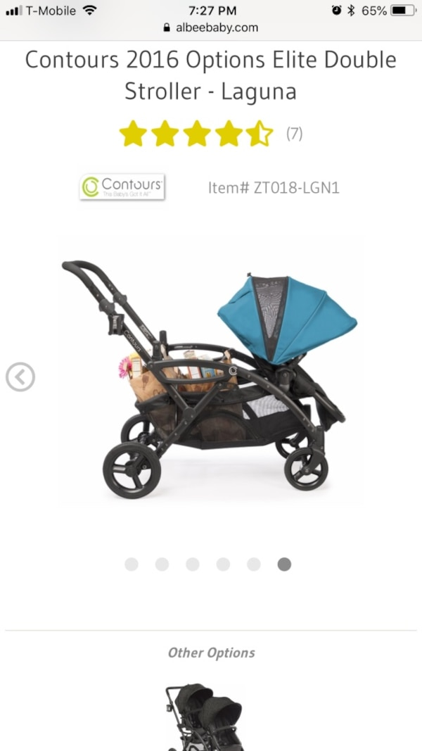 Double stroller convertible and Options Elite original price $399 7c86466a-b038-4f37-8d35-0538343fc894