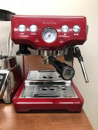 Breville BES840CBXL The Infuser Espresso Machine, Cranberry Red Wyandanch, 11798