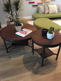 round brown wooden table with two chairs Hawthorne, 90250