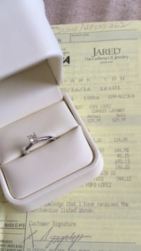Silver and diamond cut ring with box Cutler Bay, 33189