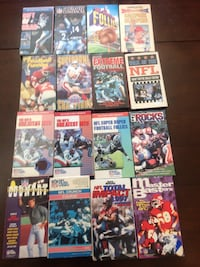 Assorted football vhs tapes $20 for the lot London, N6C