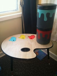 painting palette-themed table Regina, S4T 0Z2