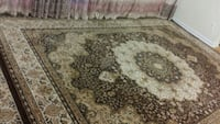 brown and beige floral area rug Toronto, M4H 1J5