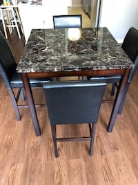 3'x3' Dining Table plus 4 chairs
