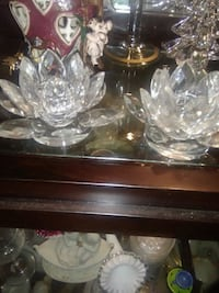 Authentic Crystal Lilly Candle Holders  North Charleston, 29406