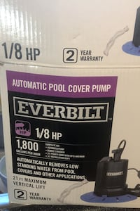 Automatic pool cover pump