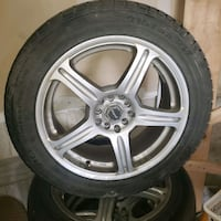 """17"""" univeral 5 bolt rims and winter tires Innisfil, L9S"""