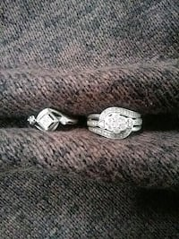 $ Negotiable - SK9 Diamond rings w/ 925 silver bands size 6.5 - 7 Portland, 97239