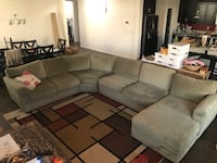 Couch Sectional w Chaise Lincoln, 95648