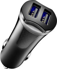 Insignia - 17W Vehicle Charger with 2 USB Ports - Black Mississauga