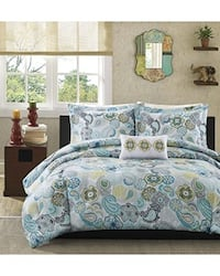 Mi-Zone Comforter Set Twin/Twin Xl Size - Blue White, Floral – 3 Piece Bed Sets – Ultra Soft Microfiber Bedding  Richmond Hill, L4B 4T9