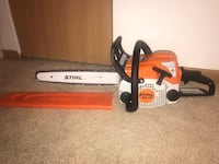 Orange and white stihl chainsaw Woodstock, 60098