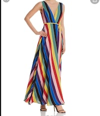 AQUA rainbow wrap maxi dress- never worn! Mississauga, L5L 1C9