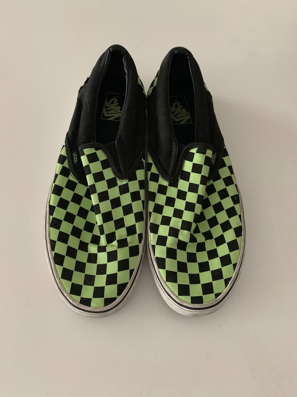 e1a51a28330346 Used Vans - green checkered (US SIZE 13) for sale in Surrey - letgo