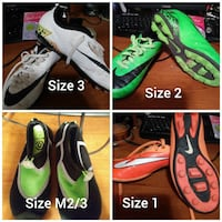 four pair of assorted color Nike Cleats collage El Centro, 92243