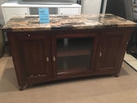 TV Stand with Faux Marble Norwalk, 90650