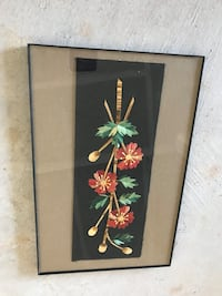 Red and green floral framed wall decor Aldie, 20105