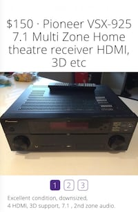 7.1 multi zone home theatre receiver Vancouver, V6E 1N4