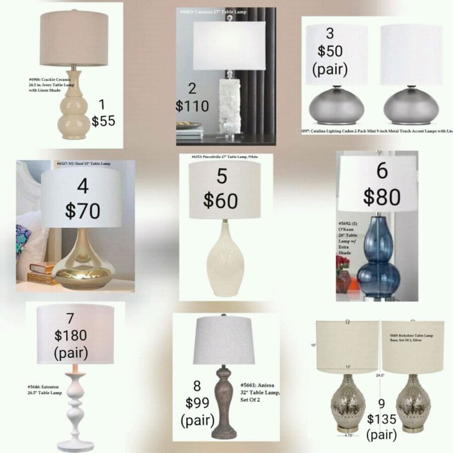 Table Lamps - Delivery