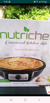 Crepe maker and electric griddle