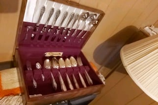 Community silver plated flatware,comes in nice old box