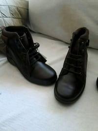 pair of black leather boots Chula Vista, 91911