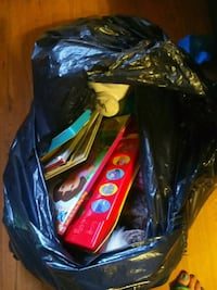 Bag of books, toys, and stuffed animals. Aberdeen