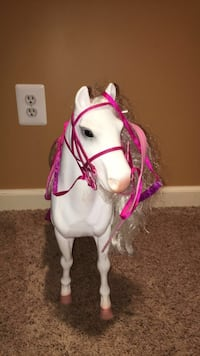 White and pink horse for American girl doll/ any doll that size Westminster, 21158